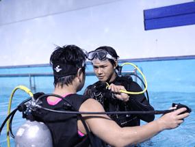 ダイビングの基礎技術の様子